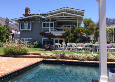 A perfect day in Santa Monica at the home of Myra & Earl Pomerantz