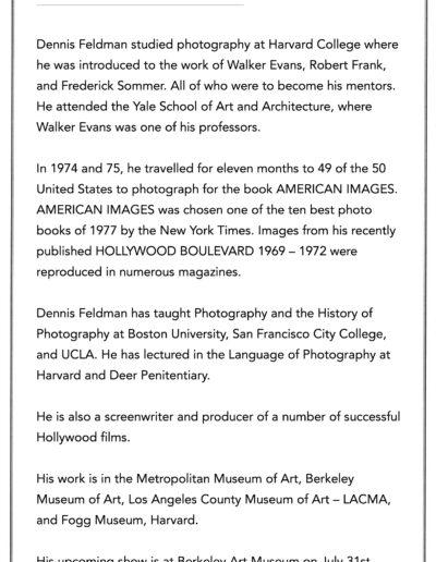Dennis Feldman's Biography